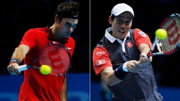 Roger Federer on Kei Nishikori