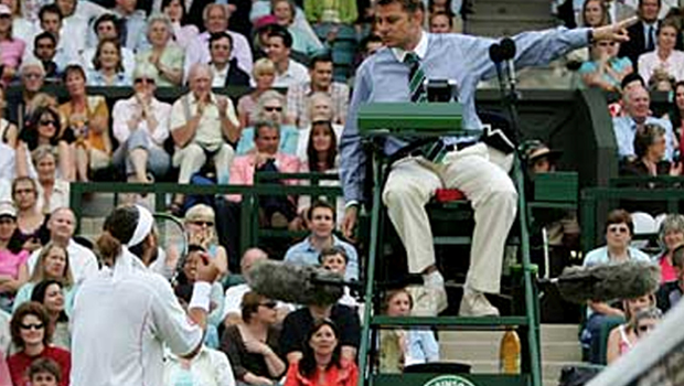 No more matches for a Tennis referee