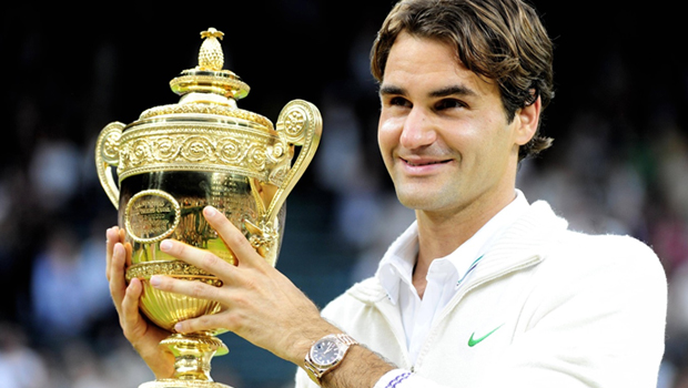 Fire and smoke for Federer