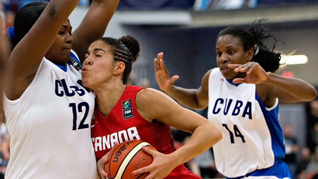 Women's basketball team in Canada getting ready for the Olympics
