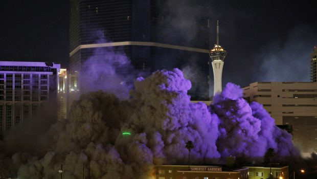 Riviera Casino tower in Las Vegas set for an overnight implosion