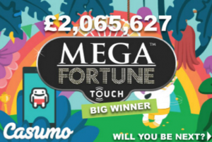 Casumo player strikes the mega fortune jackpot on first effort