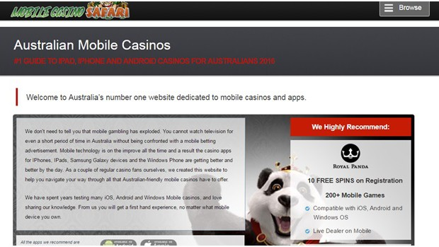 Review of MobileCasinoSafari.com