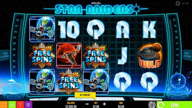 Atari Star Raiders slot available on Omni Slots