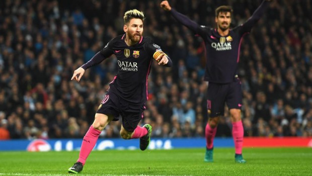 Messi, top scorer in the group stage of the Champions League