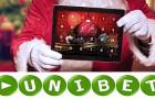 At the Unibet Casino the Santa Claus already presents