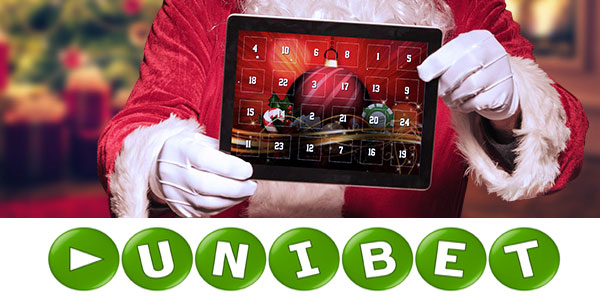 At the Unibet Casino the Santa Claus already presents