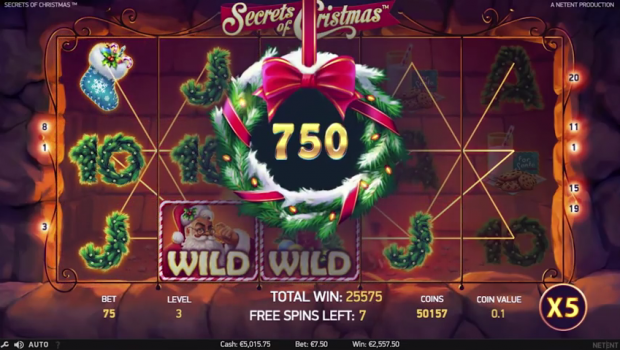 NetEnt Secrets of Christmas slot machine