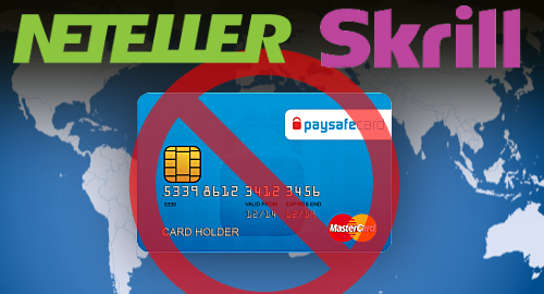 Neteller and Skrill prohibit prepaid cards
