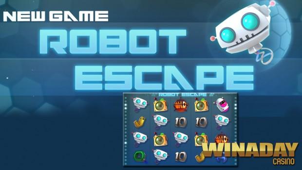 Winaday Casino offers the new Escape Robot slot machine
