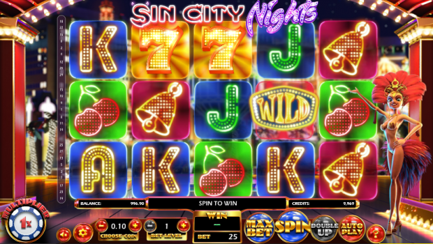 What's going on at the Sin City Nights Slot from Betsoft?