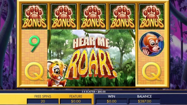 Discover the new Hear Me Roar slot machine from Genesis Gaming