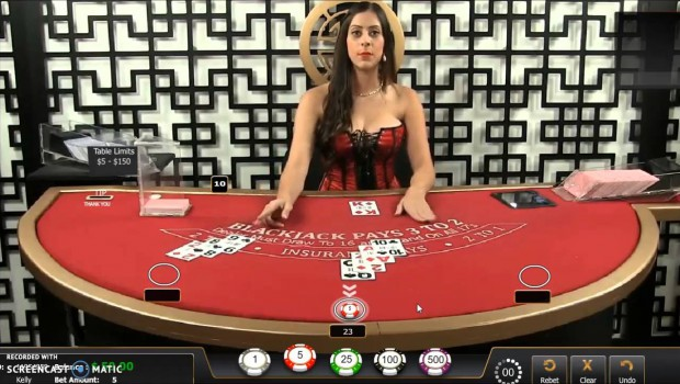 Afflicting! A blackjack dealer cheats live on Bet Online