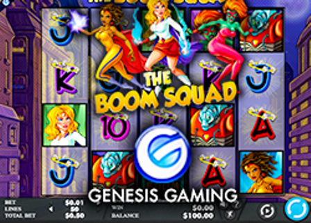 Genesis Gaming has launched its slot machine The Boom Squad