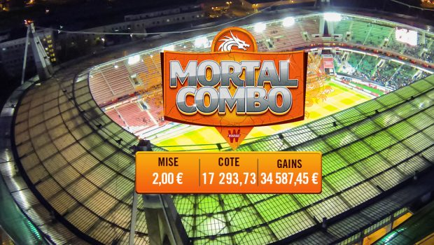 An amazing Mortal Combo on Winamax! 5 euros of bets for 132,098 euros won