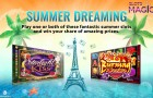 The Summer Dreaming takes place on the casino Slots Magic