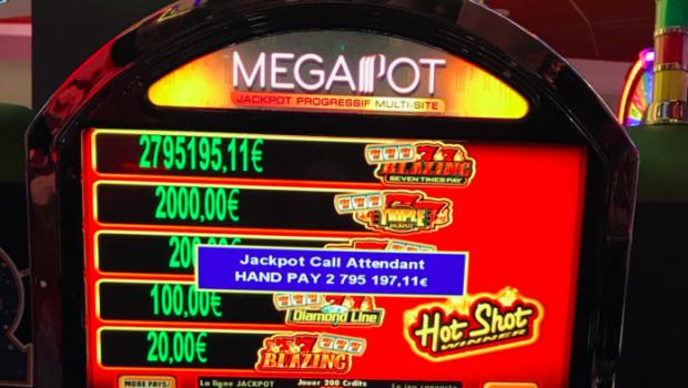 Megapot live at the Grande Motte for 2.795.195€