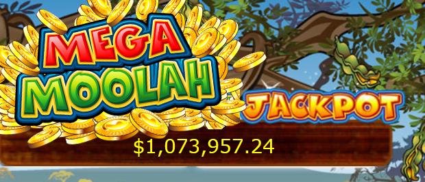 1.6 million dollars won with the Mega Moolah jackpot