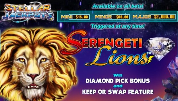 Stellar Jackpot with Serengeti Lions Slot Machine