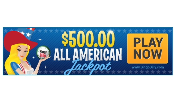 $500 All American Jackpots Waiting to be Popped at BingoBilly.com