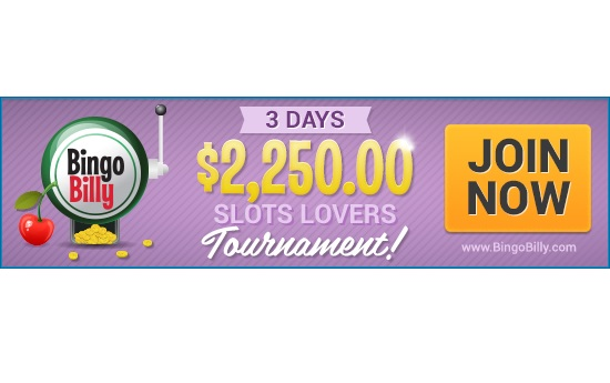 BingoBilly Hosts $2,250 Slots Lovers Tournaments Over 3 Days