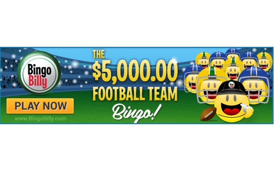 Tackle Your Way to $5,000 in Prizes With Team Bingo at BingoBilly.com