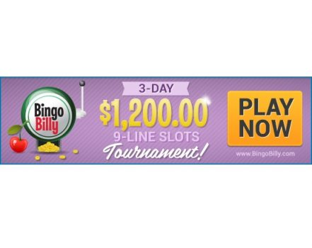 BingoBilly Showcases Big 9-Line Online Slots in $1,200 Slots Tournament