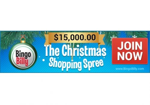 Christmas Comes Early to BingoBilly with $15,000 Shopping Spree