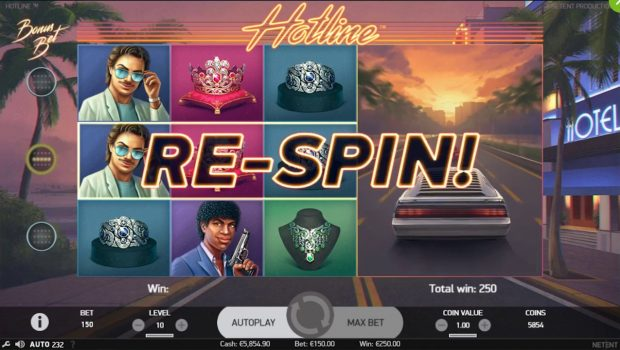 Hotline, Netent 100% 80s Slot Machine