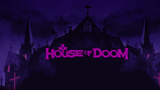 House of Doom, the house of horror on a background of metal music