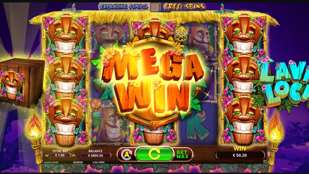 Lava Loca, the perfect slot machine for you to feel on vacation on a dream island