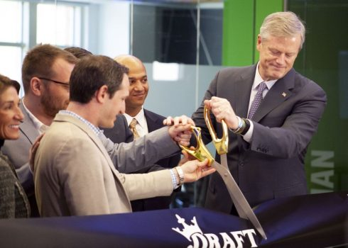 DraftKings opens new HQ in Boston as Massachusetts considers sports betting