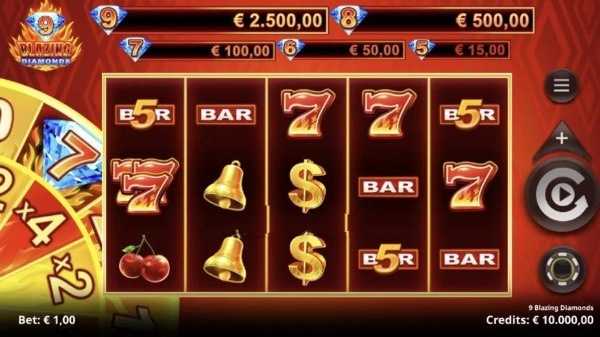 9 Blazing Diamonds Slot Review